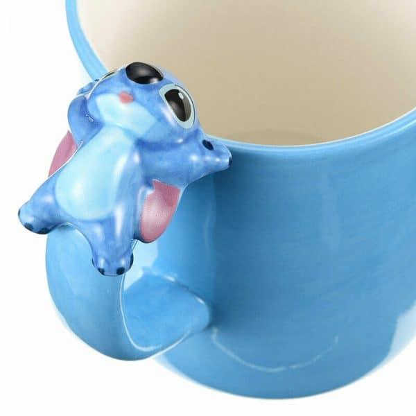 Disney Stitch Mug - Stitch 3D figure lying on the handle