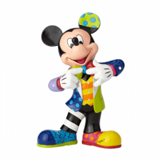 MICKEY MOUSE LARGE 90TH ANNIVERSARY FIGURINE WITH BLING