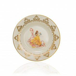Belle 6″ Plate from the Disney Princess Teaware collection