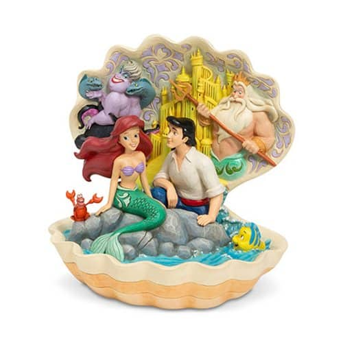 Disney Traditions Little Mermaid Seashell Scenario by Jim Shore Statue