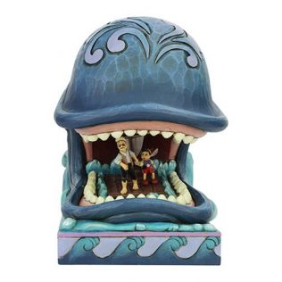 Disney Traditions Pinocchio Monstro and Geppetto A Whale of a Whale by Jim Shore Statue