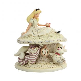 JIM SHORE DISNEY TRADITIONS – ALICE IN WONDERLAND WHITE WOODLAND – WHIMSY AND WONDER