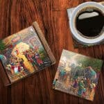 Thomas Kinkade StarFire Prints Glass Coaster Set – Dumbo
