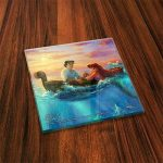 Thomas Kinkade StarFire Prints Glass Coaster Set – Disney The little mermaid
