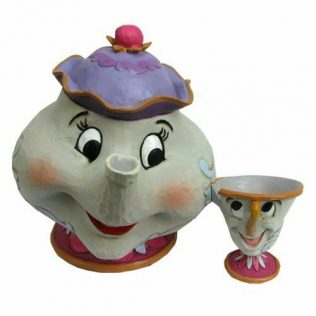 Jim Shore Disney Traditions – Beauty and the Beast Mrs. Potts and Chip Statue