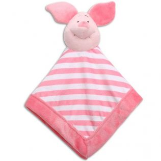 Disney Baby Pooh Lets Fly A Kite Pink Security Blanket Piglet