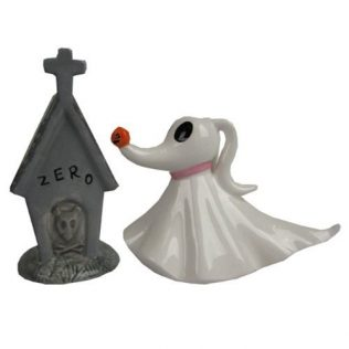 The Nightmare Before Christmas Zero and Dog House Ceramic Salt & Pepper Shaker Set