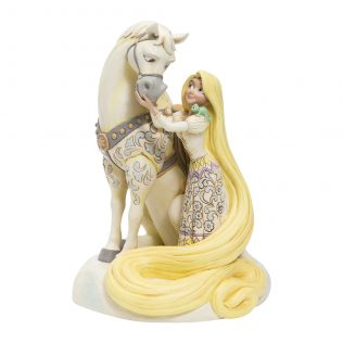 Jim Shore Disney Traditions – Rapunzel White Woodland – Innocent Ingenue