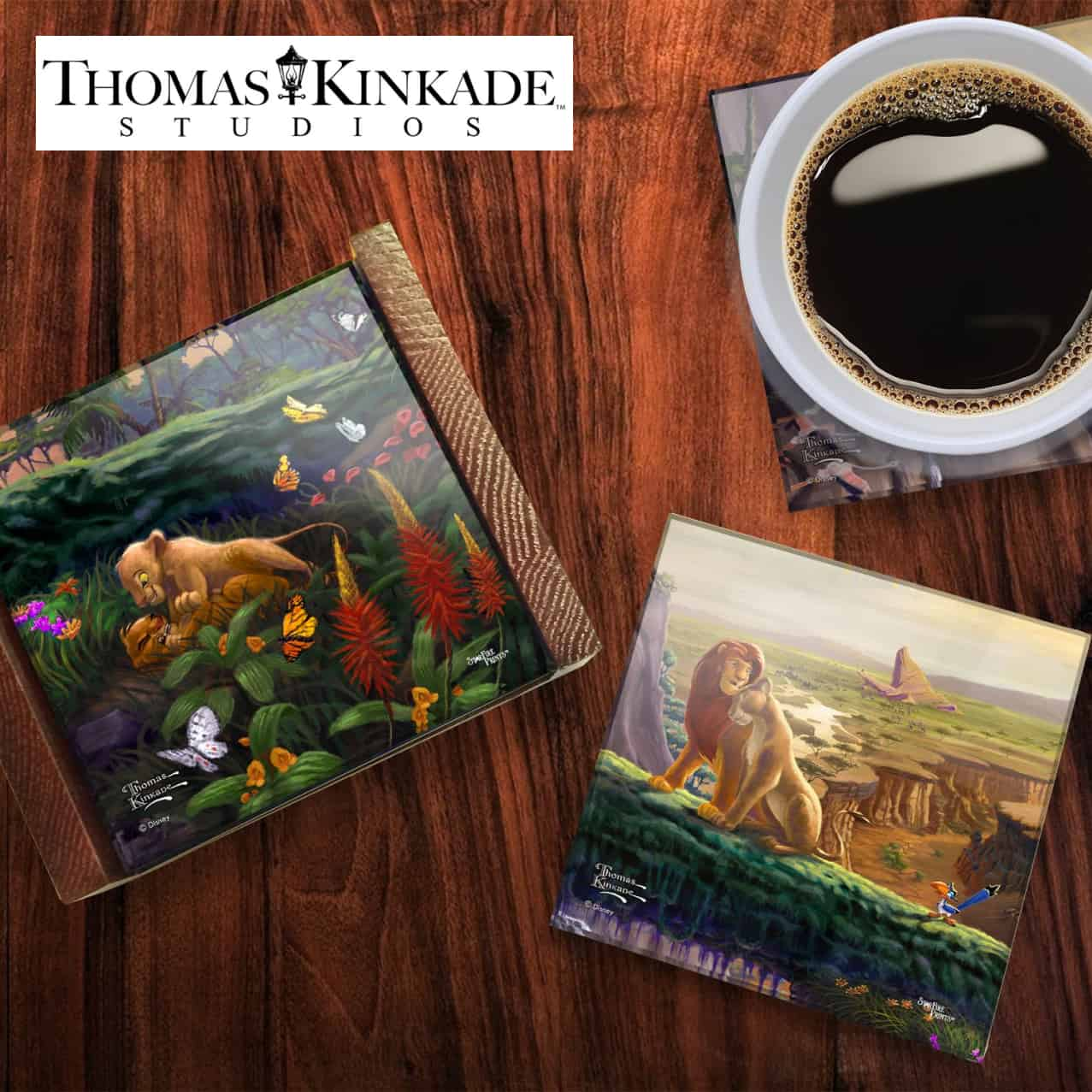 Thomas Kinkade Disney Coasters
