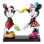 Disney Mickey Mouse and Minnie Mouse Heart Statue by Romero Britto