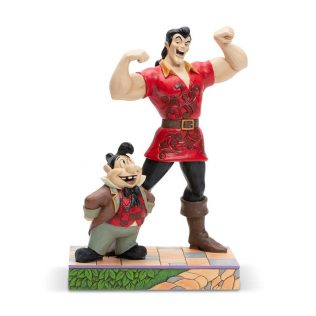 Disney Traditions Beauty & The Beast – Muscle-Bound Menace (Gaston and Lefou Figurine)