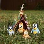 Bluey Family 4 Figurine Pack – Bandit Bingo Bluey Chilli