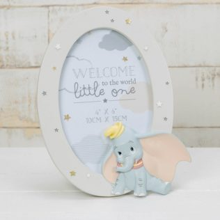Disney Dumbo Round Resin Picture Frame – Baby Nursery Décor