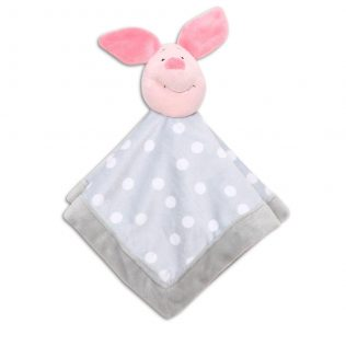 "Disney Baby ""Pooh Let'S Fly A Kite"" Grey Security Blanket – Piglet"