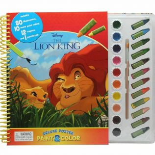 Disney Paint & Colour The Lion King Book