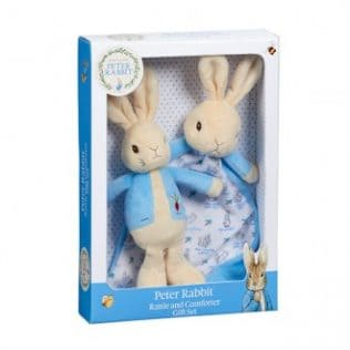 GIFT SET: Peter Rabbit Rattle & Comfort Blanket