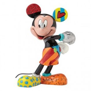 Disney Britto Mickey Mouse Cheerful Figurine – Medium
