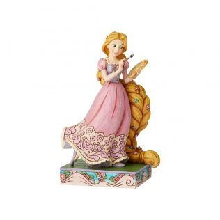 JIM SHORE DISNEY TRADITIONS – RAPUNZEL PRINCESS PASSION ADVENTUROUS ARTIST FIGURINE