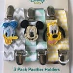 DISNEY FLY A KITE POOH SET OF 3 PACIFIER CLIPS