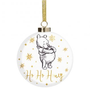 Disney Christmas by Widdop and Co Bauble: Pooh Ho Ho Honey