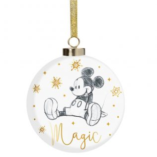 Disney Christmas by Widdop and Co Bauble Mickey Mouse Magic
