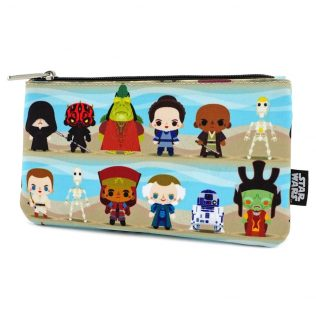Disney Loungefly Star Wars Phantom Menace Chibi Pouch