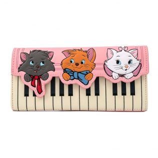 Disney Loungefly Aristocats Piano Kitties Trifold Purse