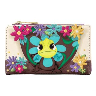 Disney Loungefly Tangled Pascal Flower Flap Purse