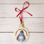 Disney Christmas By Widdop And Co Hanging Decoration 'Baby's First Christmas' Eeyore