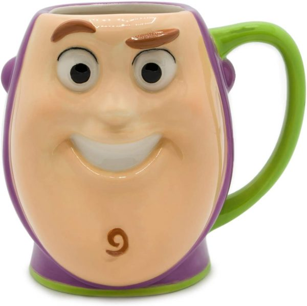 Silver Buffalo Toy Story Buzz Lightyear Playtime Face Ceramic 3D Sculpted Mug
