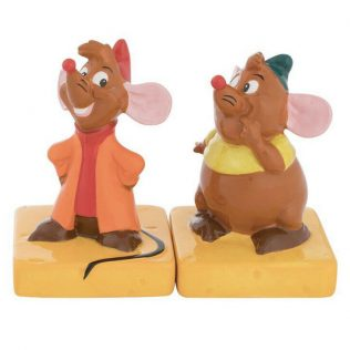 Disney Cinderella Jaq and Gus Sculpted Ceramic Salt & Pepper Set