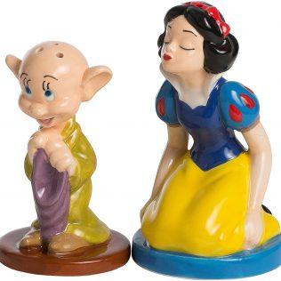 Disney Snow White and Dopey Sculpted Ceramic Salt & Pepper Set