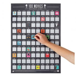 Gift Republic Bucket List Scratch Poster – 100 Movies