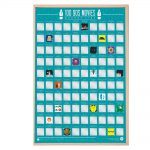 Gift Republic 100 90's Movies Scratch Poster