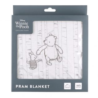 Disney Classic Winnie the Pooh Collection Jersey Pram Blanket – Pooh and Piglet