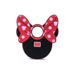 Loungefly Disney Mickey Mouse – Minnie Quilted Bow Head Crossbody