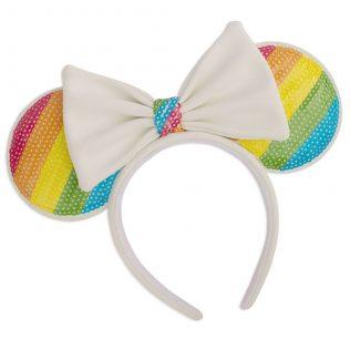 Loungefly Minnie Mouse – Sequin Rainbow Ears Headband