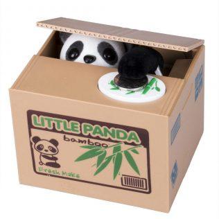 Adorable Coin Stealing Panda Mechanical Coin Money Bank